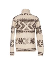 Scotch & Soda - White Hand-knit Wool Sweater for Men - Lyst