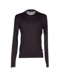 Dolce & Gabbana - Black Dagger-print Wool Sweater for Men - Lyst