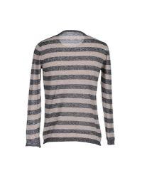 Officina 36 Gray Sweater for men
