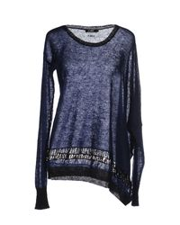 CoSTUME NATIONAL | Blue Sweater | Lyst