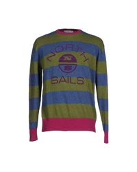 North Sails Blue Jumper for men