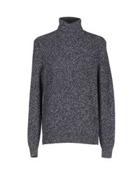 Brunello Cucinelli | Gray Marled Cashmere Chunky Turtleneck Sweater for Men | Lyst