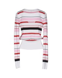 Space Style Concept White Sweater