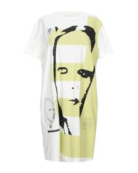 Rick Owens Drkshdw White 'Electric' T-Shirt