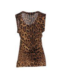 Dolce & Gabbana - Brown Jumper - Lyst