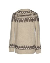 Denim & Supply Ralph Lauren Gray Fair Isle Oversized Sweater