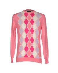Guess Pink Sweater for men