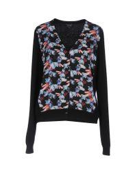 Armani Jeans | Black Jewel Print Cardigan | Lyst