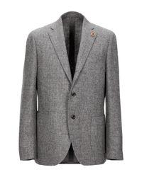 Lardini Gray Suit Jacket for men
