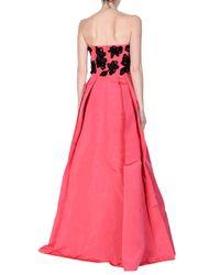 Robe longue Oscar de la Renta en coloris Pink