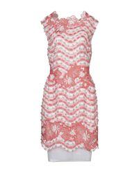 Vestito al ginocchio di Talbot Runhof in Pink