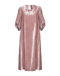 Imperial Pink Knee-length Dress