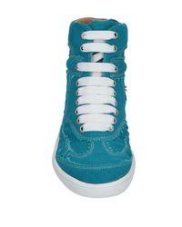 MM6 by Maison Martin Margiela Blue High Sneakers & Tennisschuhe