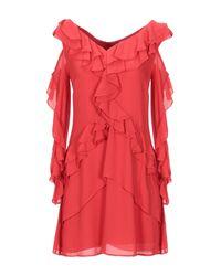 Twenty Easy By Kaos Red Short Dress