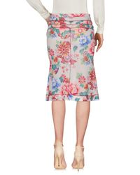 Blumarine Multicolor Knee Length Skirt