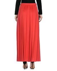 Jupe longue Love Moschino en coloris Red