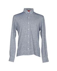 Isaia Blue Shirt for men