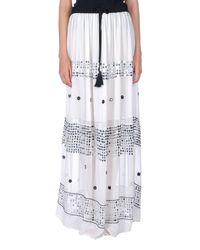 Twin Set White Long Skirt
