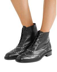 Saint Laurent Black Lolita Studded Leather Ankle Boots