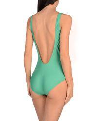 Alberta Ferretti Green One-piece Swimsuit