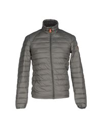 Save The Duck Gray Synthetic Down Jacket for men