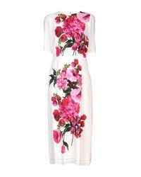Dolce & Gabbana White 3/4 Length Dress