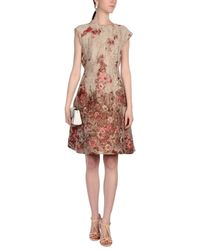 Alberta Ferretti Natural Knee-length Dress