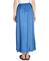 Manila Grace - Blue Long Skirt - Lyst