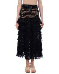 Nicopanda Black 3/4 Length Skirt