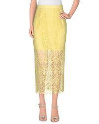 Ermanno Scervino Yellow 3/4 Length Skirt