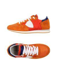Philippe Model Orange Low-tops & Sneakers