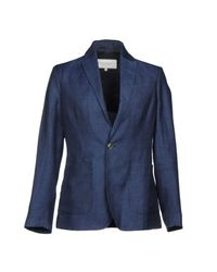 Private White V.c. Blue Blazer for men