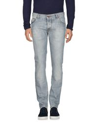 Brian Dales Blue Denim Pants for men