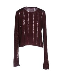 T By Alexander Wang Purple Jumper