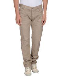 Care Label Natural Denim Trousers for men