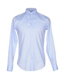 Mauro Grifoni Blue Shirt for men