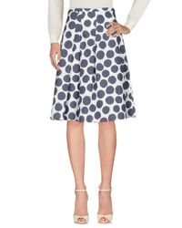 Cappellini By Peserico Blue Knee Length Skirts