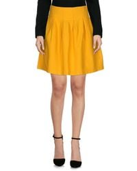 Department 5 Yellow Knee Length Skirt
