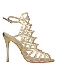 Schutz Metallic Sandals