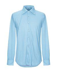 Camisa Fedeli de hombre de color Blue