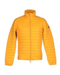 Save The Duck Orange Synthetic Down Jacket for men