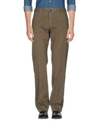 Incotex Green Casual Pants for men