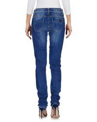 Elisabetta Franchi Blue Denim Pants