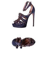 Alaïa Blue Sandals