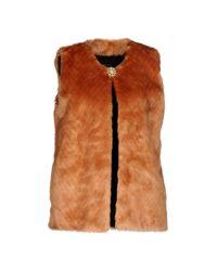 Maison Scotch Brown Faux Fur