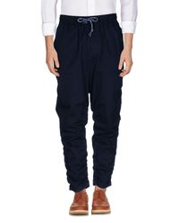 White Mountaineering Blue Casual Pants for men