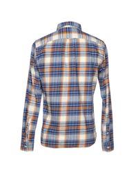 Camisa Edwin de hombre de color Blue