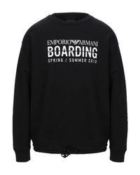 Sweat-shirt Emporio Armani pour homme en coloris Black