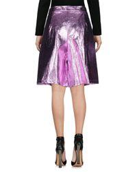 MNML Couture Purple Knee Length Skirt