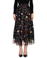 Holly Fulton Black 3/4 Length Skirt
